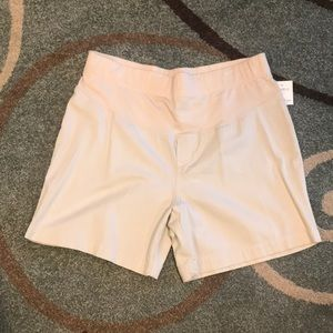 Large Khaki Maternity Shorts NWT